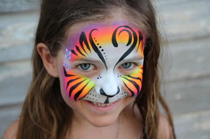 Face Painting Tiger Birthday
